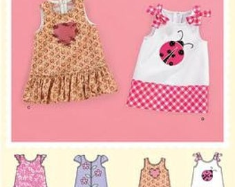 Baby Girl Dress Pattern / Preemie to 18 Months / 4 Styles