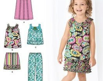 SALE! GIRLS PATTERN / Dress - Skirt - Top - Cropped Pants / Summer Clothes / Sizes 3 to 8