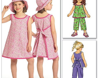 GIRL SUNDRESS PATTERN / Child - Toddler / Wrap Around Dress - Top - Pants - Hat