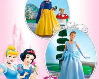 DISNEY PRINCESS PATTERN / Child Snow White and Cinderella Costumes