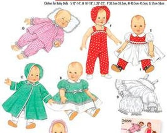 DOLL CLOTHING PATTERN - Make Vintage Style Baby Doll Clothes - BItty Baby and Others