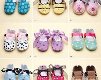 BABY SHOES PATTERN  / Nine Styles Of Booties And Shoes For Boys and Girls