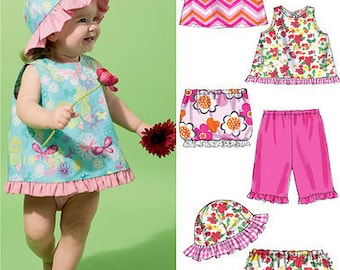 SUMMER CLOTHES PATTERN / Baby and Toddler Dress - Top - Pants  - Panties - Skirt - Hat