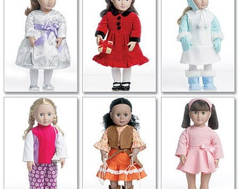 DOLL CLOTHES PATTERN / Sale / Make American Girl Doll Clothes / Winter Outfits - Dresses - Pants