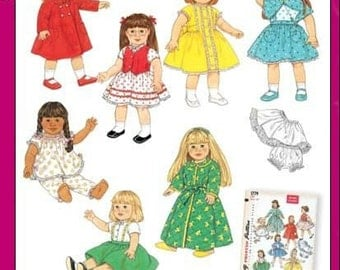 DOLL CLOTHES PATTERN - Fits American Girls / 30s And 40s Styles For Molly and Kit