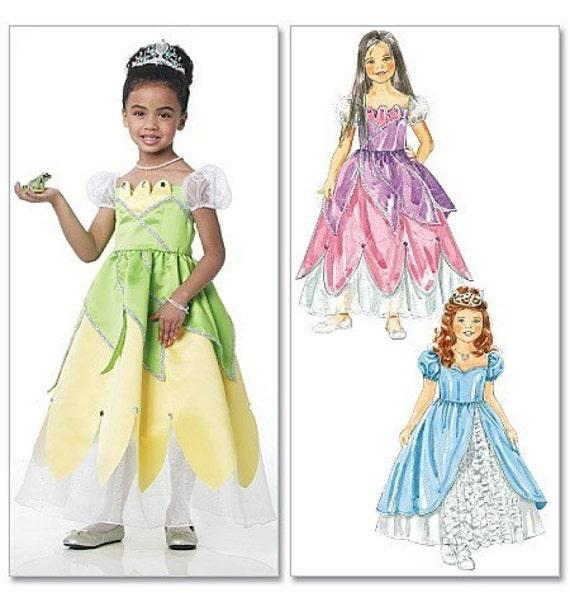 Princess Tiana Dress: PRINCESS TIANA PATTERN / Fancy Princess Dresses / Size 6 To 8