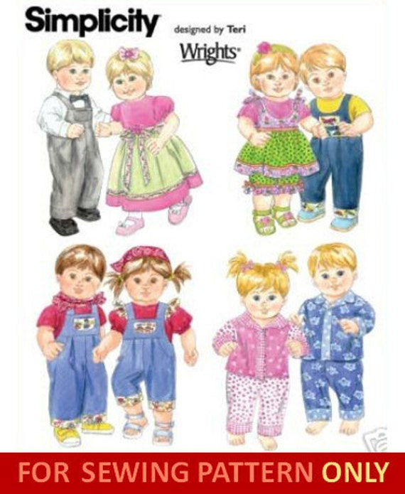 DOLL CLOTHING PATTERN For Bitty Baby-Bitty Twins by ...