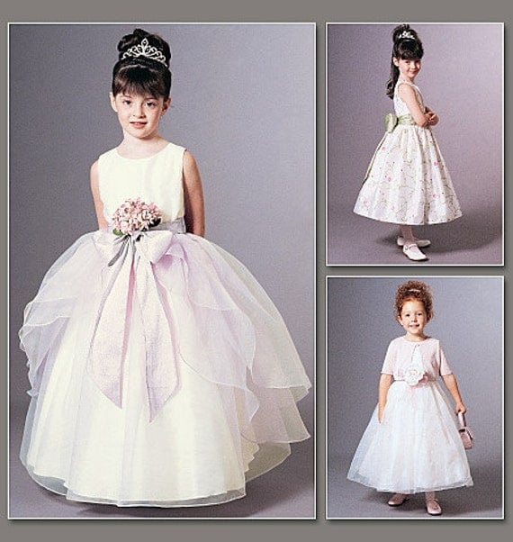 Fancy Dress Pattern Vogue Flower Girl First Communion