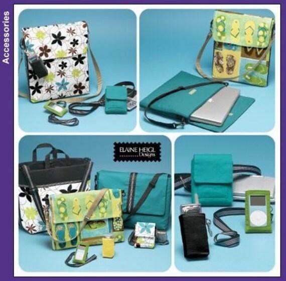 CLOTH BAG SEWING PATTERN \/ LAPTOP BAG -MESSENGER BAG -GAME BAG - CELL PHONE CASE - CAMERA BAG \/ DESIGNER - BOUTIQUE STYLES