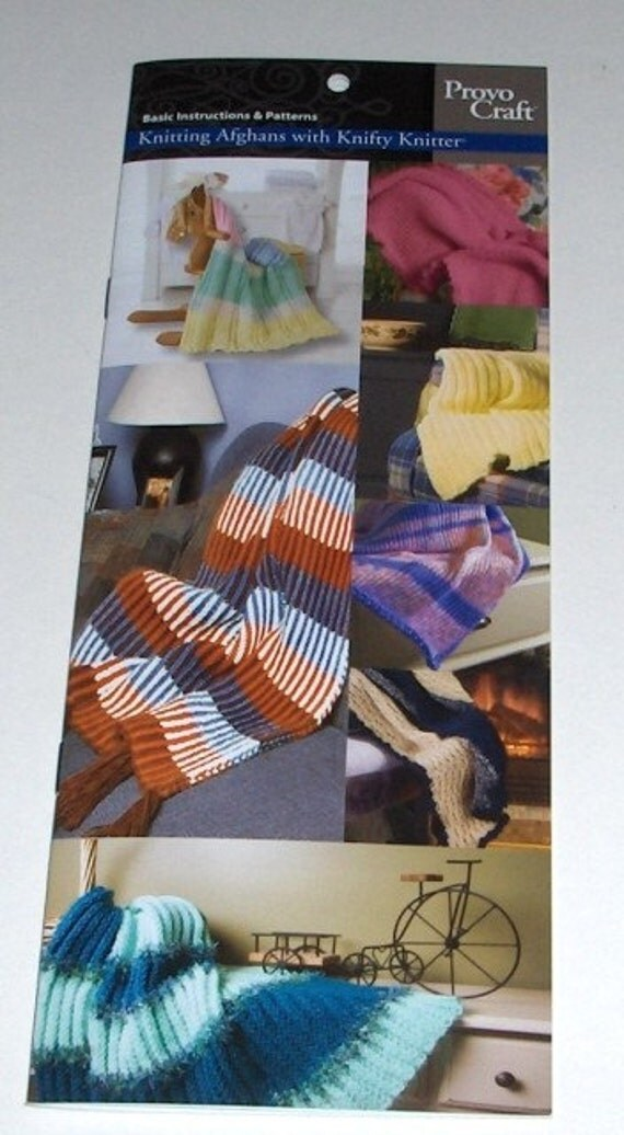 KNITTING AFGHANS W KNIFTY KNITTER LOOMS \/ LONG LOOM PATTERNS