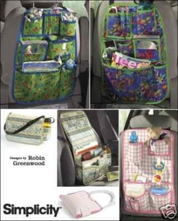 CAR ORGANIZER PATTERN / Organize Kids Activities For Long Trips