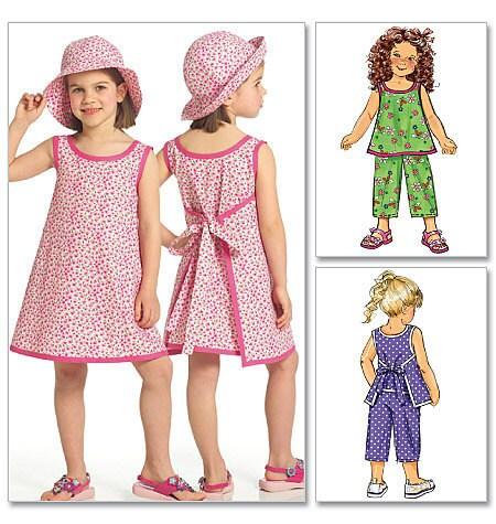 Girl Sundress Pattern Child Toddler Wrap Around Dress