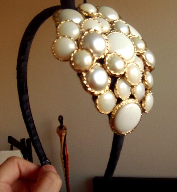 ANTONIETTE Vintage Button Headband Gorgeous FREE SHIPPING