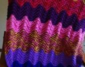Granny's Scrap lap blanket multi colored