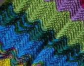 Multi colored Baby blanket Lap throw