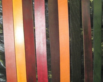 Your Choice Hand Made Custom Dyed Custom Sized Leather Belt