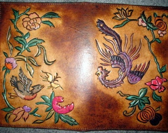 Hand Carved Design Hand Painted Jr. Legal Pad Cover in GA USA