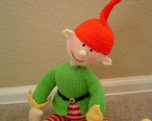 Hand Knitted mythical Fairy folk Pixie /  elf  / imp plush toy