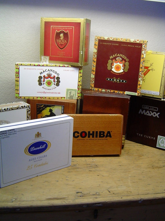 10 Cigar Boxes for crafting