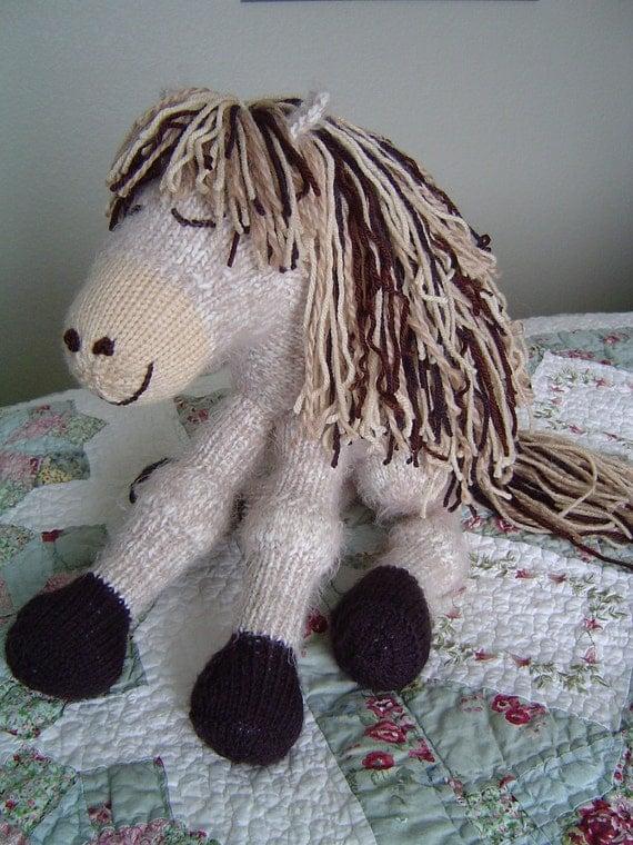 Knitted Pony Horse plush