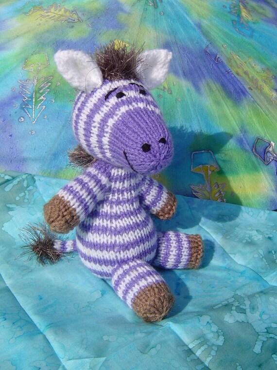 Knitted Baby  Zebra