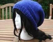 Hand Knit Hat - The Rasta in Royal Blue - Rasta Hat Handmade Unisex Hat