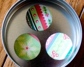 Friday SALE Stripey Christmas Large Refrigerator Magnets