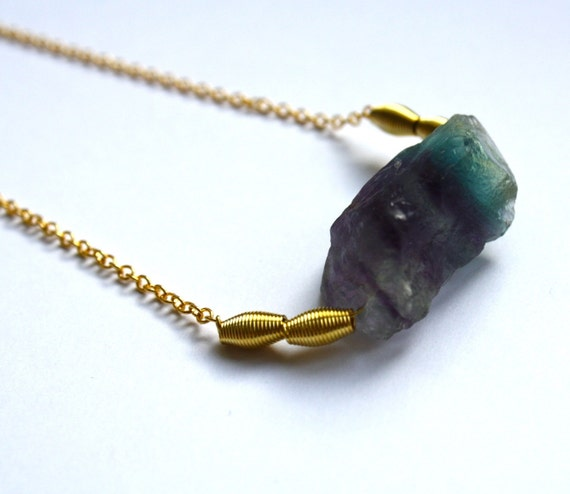 sale-SUPERSTITION flourite chunk necklace