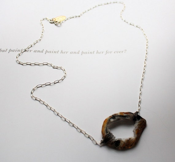 sale-ECLIPSE agate sterling silver necklace