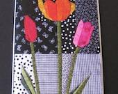 Art Quilt Card - Tulipia
