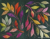 "Quilted Wall Hanging - ""Hopscotch Leaves"""