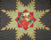 Christmas Quilted Wall Hanging - Feathered Star