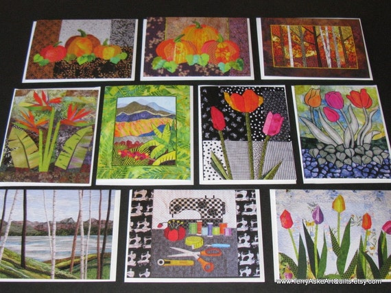 Art Quilt Note Cards - Set of 10