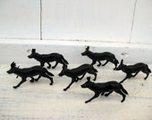 A Pack of Wolves - Set of Vintage Plastic Wolf Toys