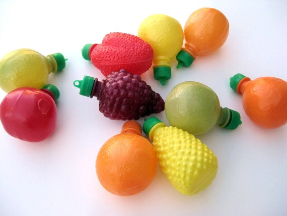Set of Vintage Fruit Candy Containers