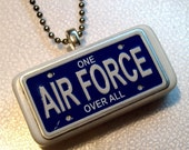 Air Force Licence Tag Domino Pendant