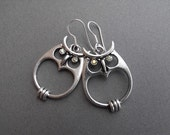 FREE SHIPPING  -  SILVER - OWLS