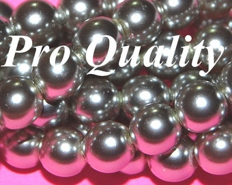 Vintage 1 Strand  (80 PEARLS)  6mm Silver Pearls H3L