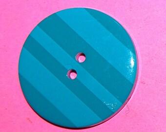 Vintage One Pop Art Fancy Huge Plastic Button 34MM J7R