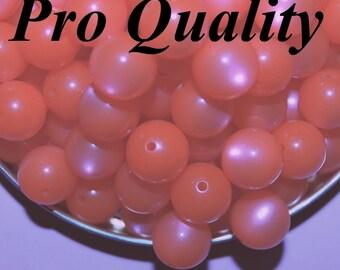 Vintage 24 Mechurichrone Orange  11MM Lucite Beads FR4
