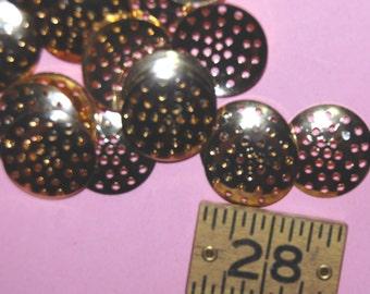 Vintage 10 Gold Plated Multi-Holed Finding 16MM  ER7