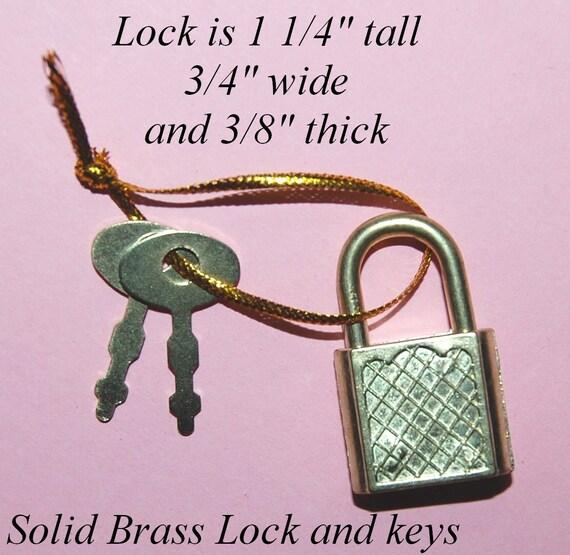 Vintage 2 Brass Padlocks with 2 Keys Each EL2