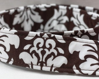 DSLR--Camera Strap Cover -- Dandy Damask Chocolate Camera Strap Cover