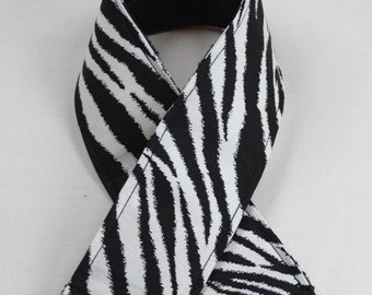 SLR Camera Strap Cover - Zebra Print With Minky - Camera Strap Cover