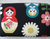 Russian Doll Kindle Fire sleeve / Kindle 3G case /  eReader cover /  Kindle cover  /Japanese Fabrics Birds