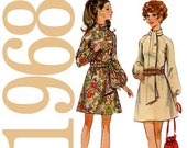 60s Dress Vintage Sewing Pattern 38 Bust Butterick 5654