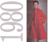 Pauline Trigère Coat and Dress Vintage Sewing Pattern - 42 Bust -  Simplicity 9712