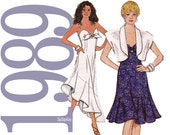 80s Dress Vintage Pattern - Multisize - Simplicity 9192 - UNCUT FF