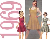 60s Princess Dress Vintage Pattern B38 Simplicity 8367 UNCUT