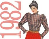 80s Ruffle Blouse Vintage Pattern - B34 - McCalls 8085 - Uncut, Factory Folds